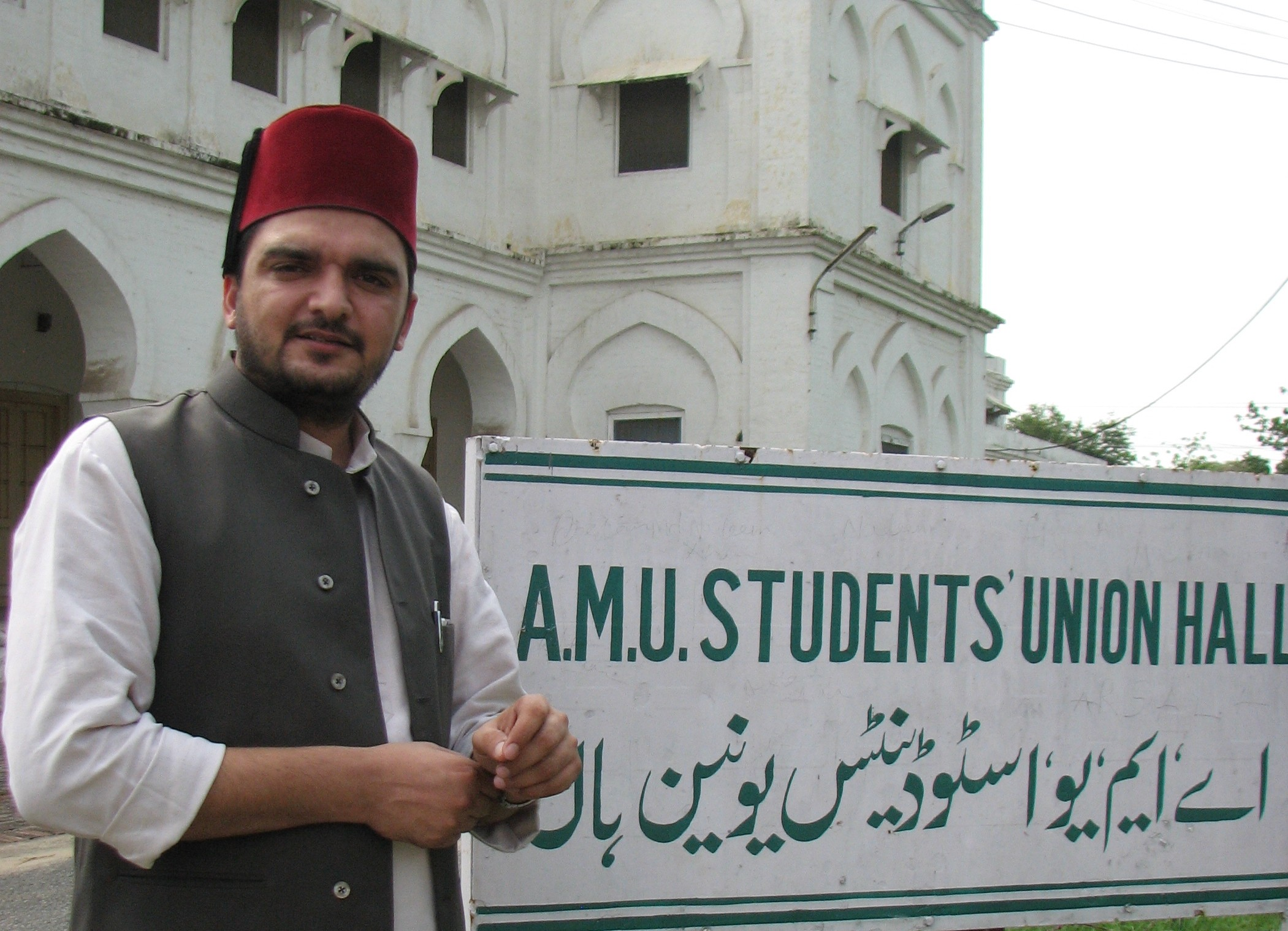 Shahzad Alam Barni at Aligarh Muslim University. Photo by Aparna Kalra.