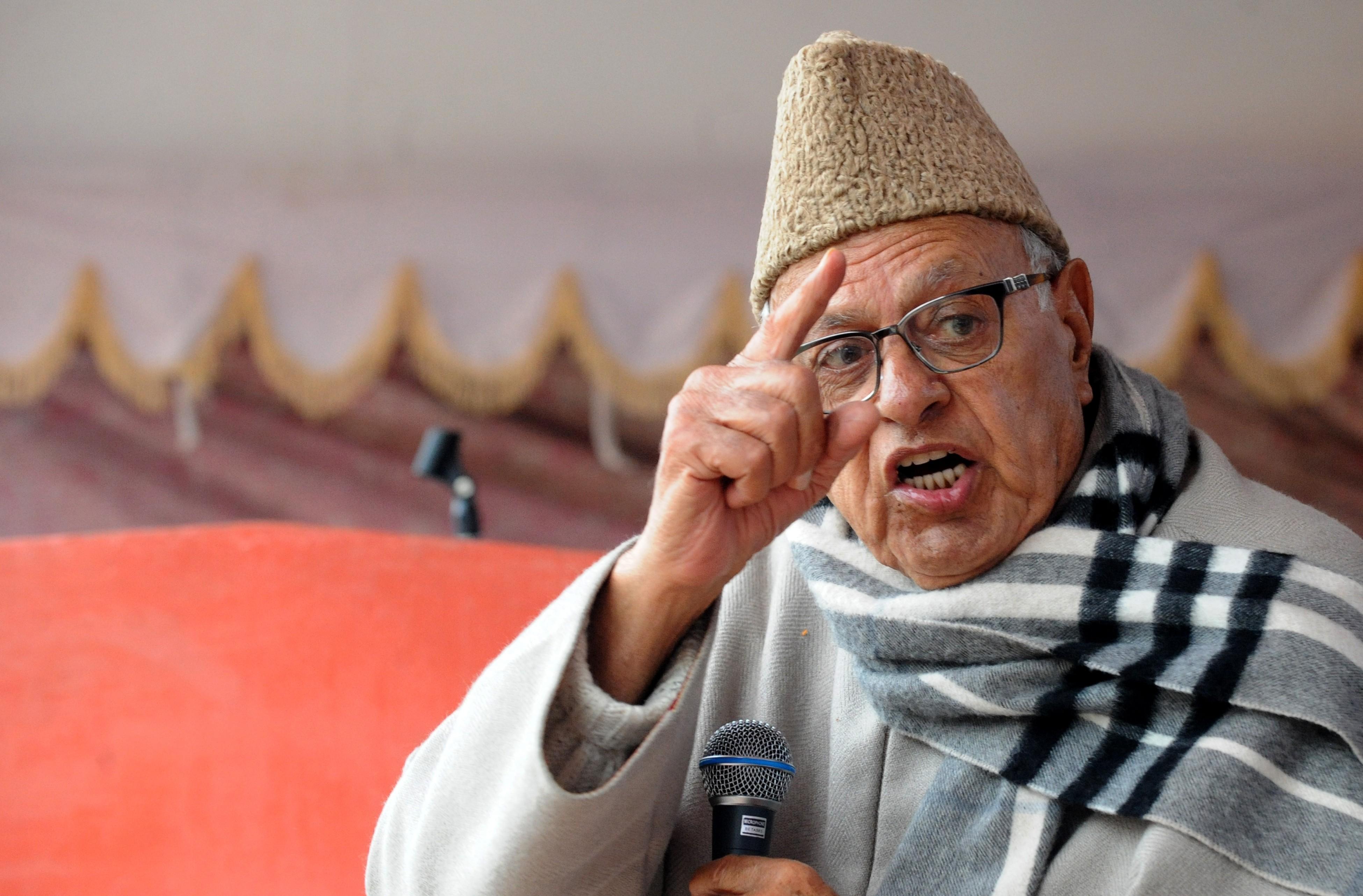Farooq Abdullah. Image: AFP