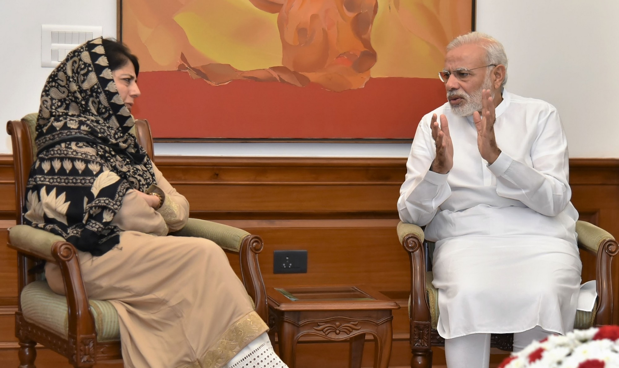 Chief Minister Mehbooba Mufti's meeting with Prime Minister Narendra last month led to speculation that Jammu and Kashmir may be in for a spell of governor's rule. Image credit: IANS