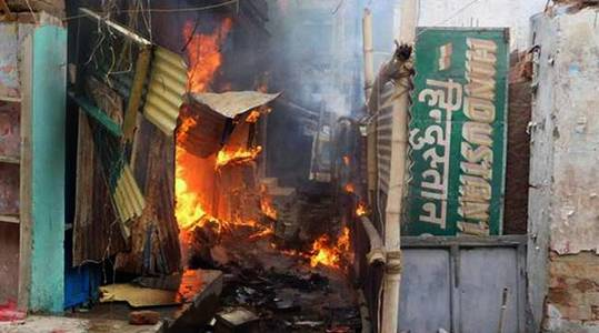 At least 62 people were injured and 55 shops burned during communal violence in Chhapra last August. Photo credit: IANS