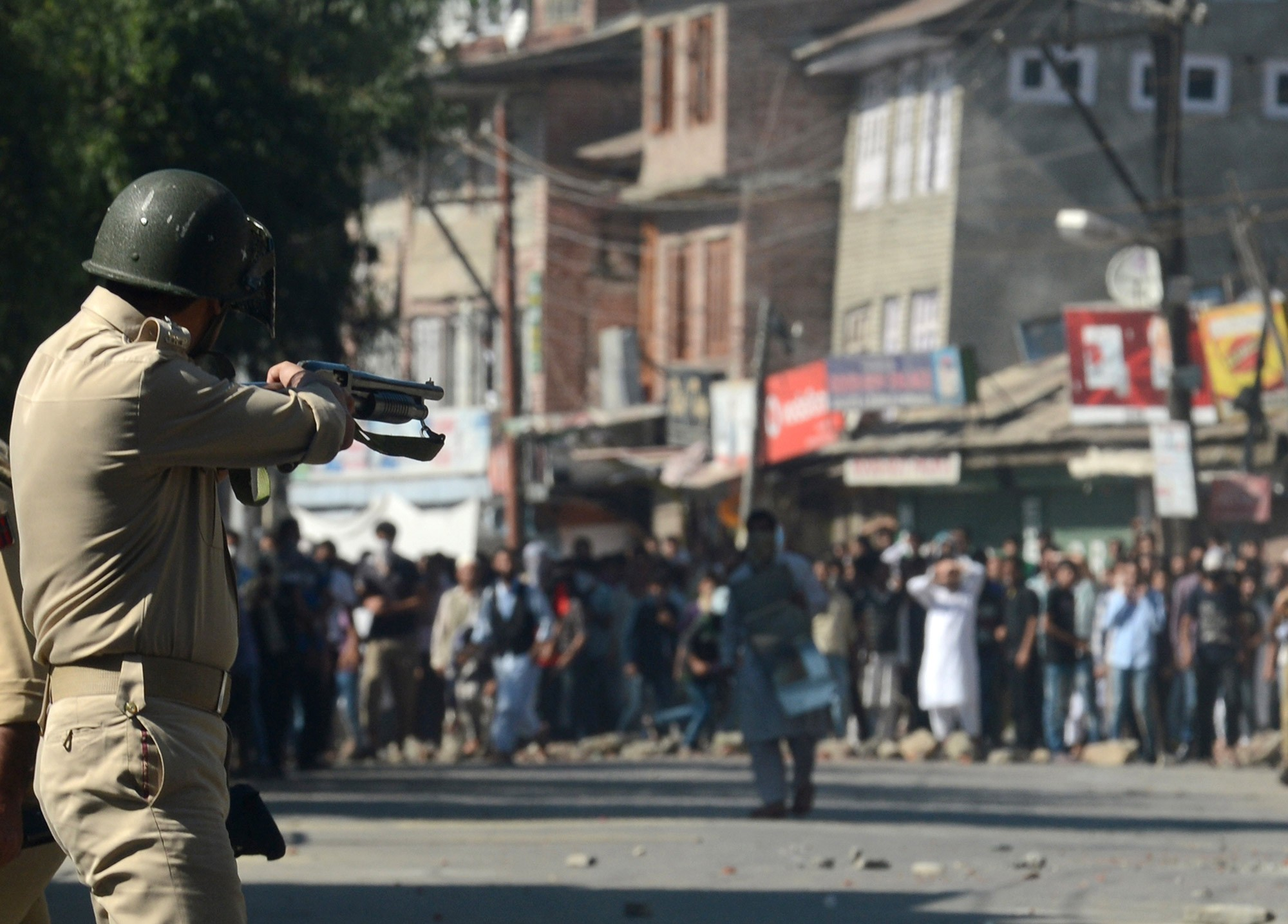'Non-lethal weapons' have only aggravated harm and suffering in Kashmir. Photo credit: AFP