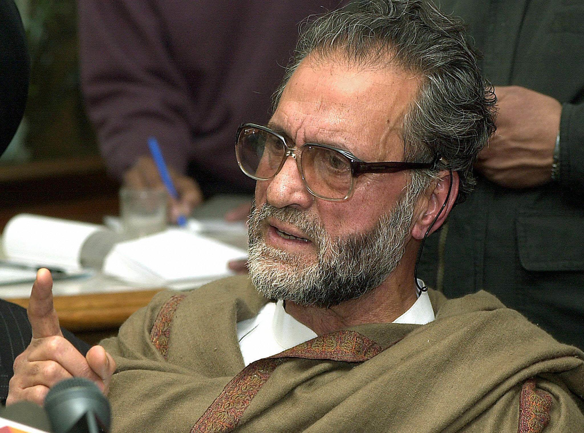 Abdul Ghani Lone was assassinated by unidentified gunmen in Srinagar in 2002. Photo credit: AFP