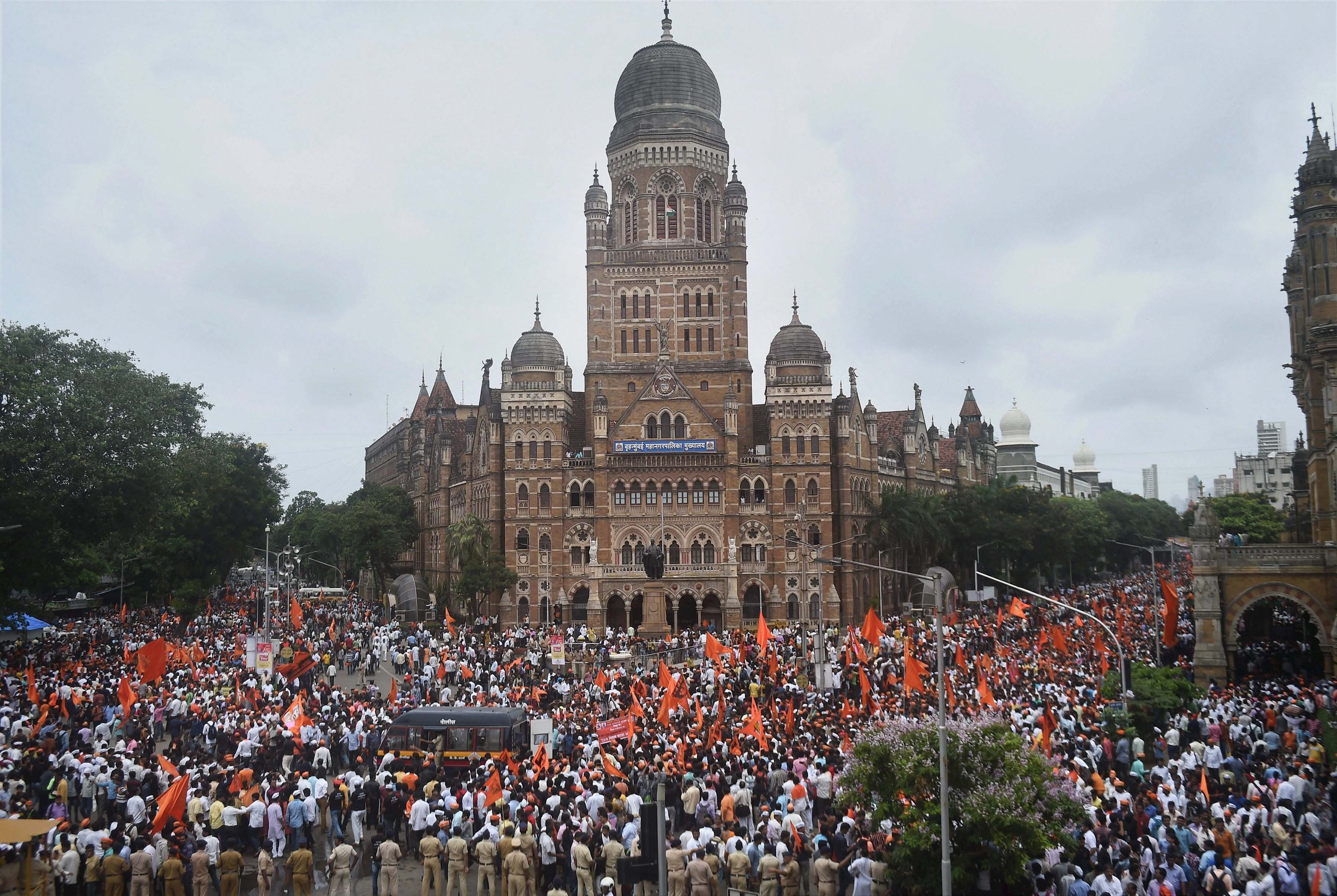 A protest rally taken out by the Maratha Kranti Morcha in Mumbai. Photo credit: PTI