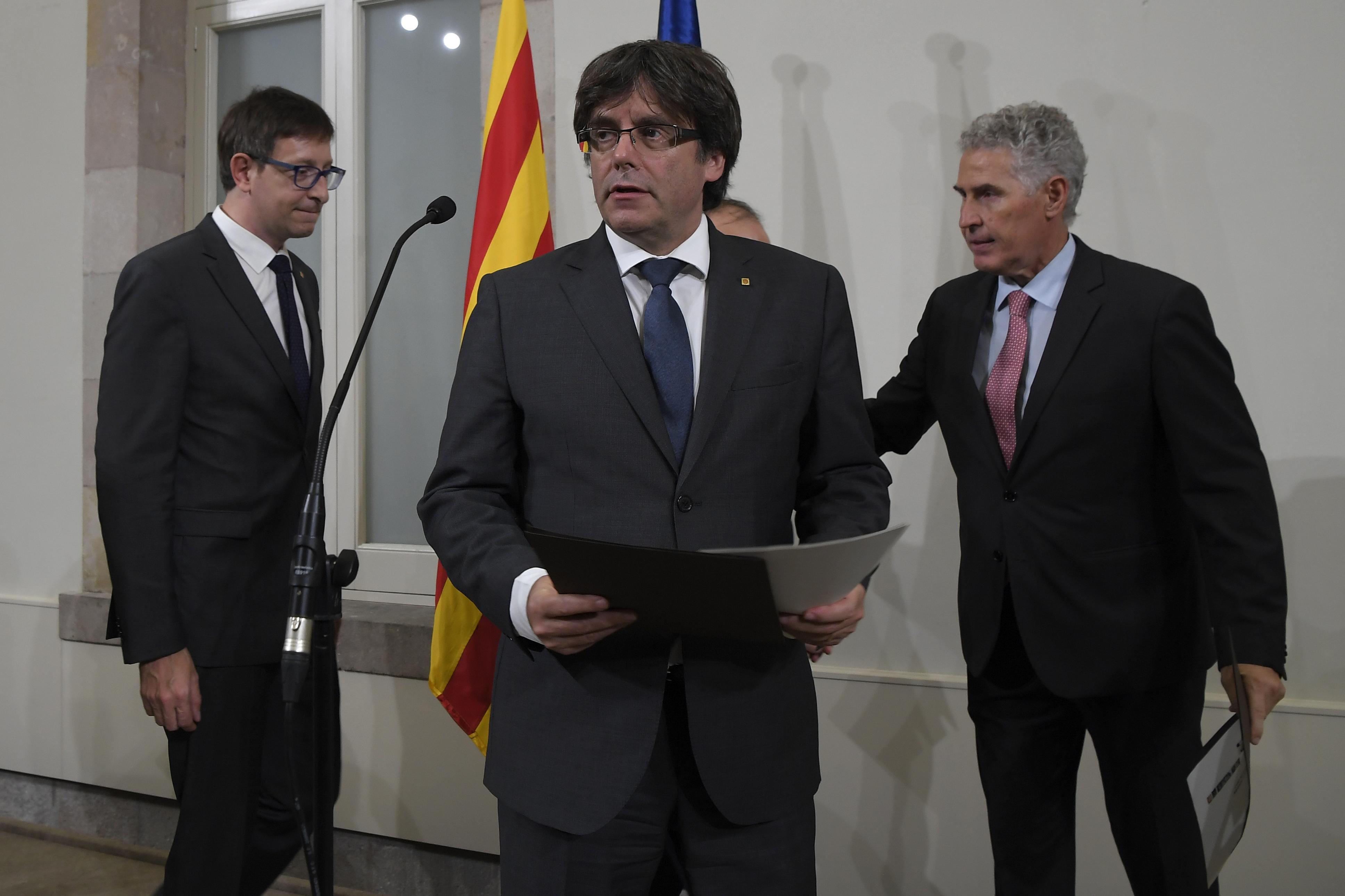 कतालोनिया की प्रादेशिक सरकार के प्रमुख कार्लेस पुजेमोंत
