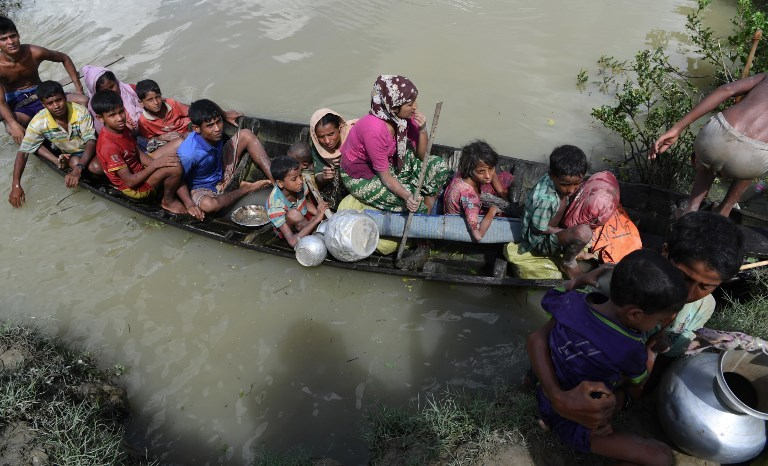 Amnesty International had urged Sheikh Hasina and Narendra Modi to address the Rohingya refugee crisis but they reportedly did not discuss the matter. Photo credit: AFP