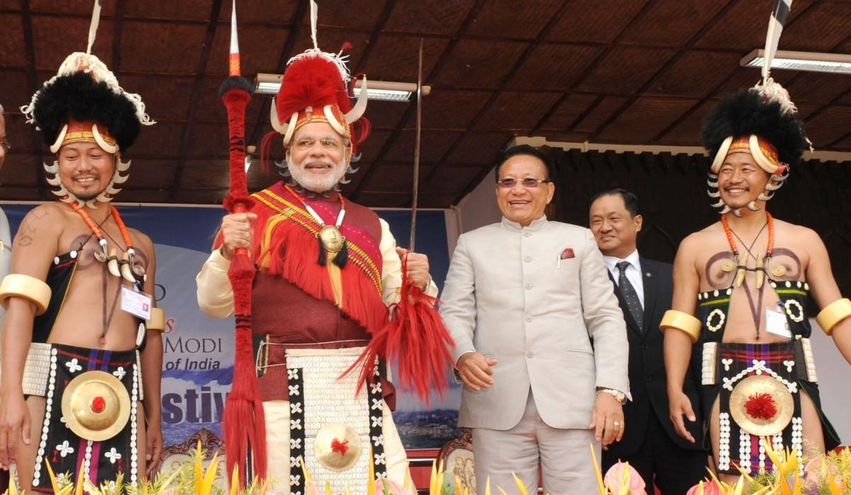 नगालैंड में एक आयोजन में प्रधानमंत्री नरेंद्र मोदी