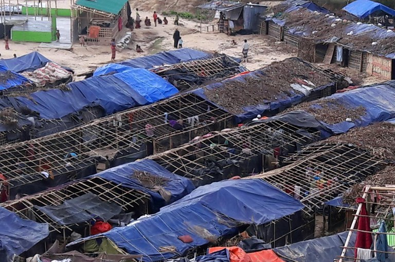 In Bangladesh, the Rohingya are housed in overcrowded, unsanitary camps. Photo credit: AFP